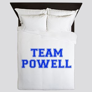 team POWELL-var blue Queen Duvet